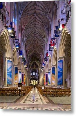 Washington National Cathedral - Washington Dc Metal Print by Brendan Reals