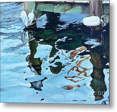 Water Reflections 1 Metal Print by Sandra Bellestri