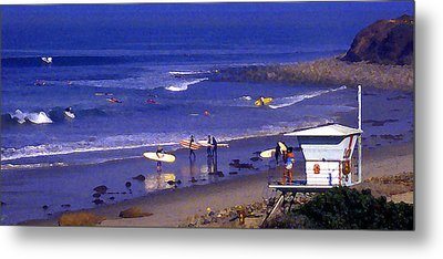 Wave Riding At County Line Metal Print by Ron Regalado
