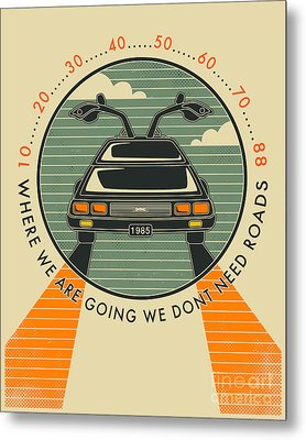 We Dont Need Roads Metal Print by Jazzberry Blue