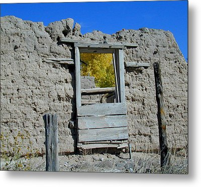 Window In Autumn Metal Print by Joseph R Luciano