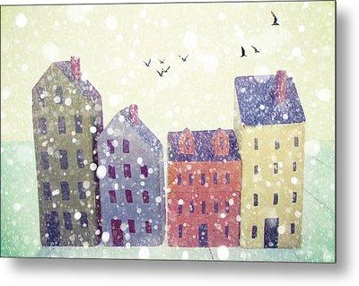Winter In Nantucket Metal Print by Amy Tyler