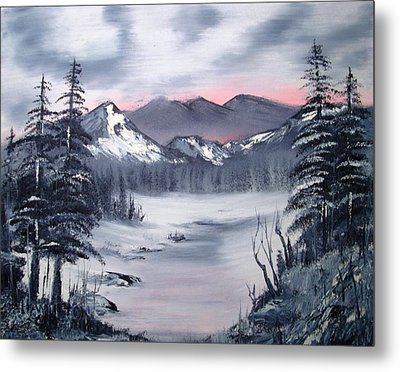 Winter In Three Colors Metal Print by Larry Hamilton