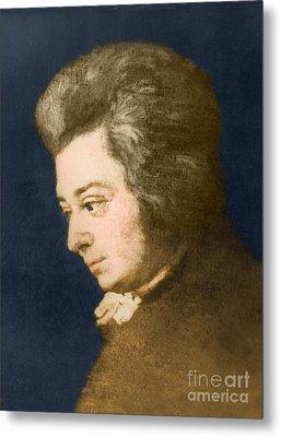 Wolfgang Amadeus Mozart, Austrian Metal Print by Omikron