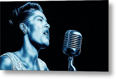 Billie Holiday Collection Metal Print by Marvin Blaine