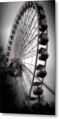 Ferris Wheels Last Run  Metal Print by Earolyn Photography By Teague