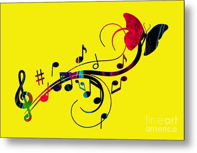 Music Flows Collection Metal Print by Marvin Blaine