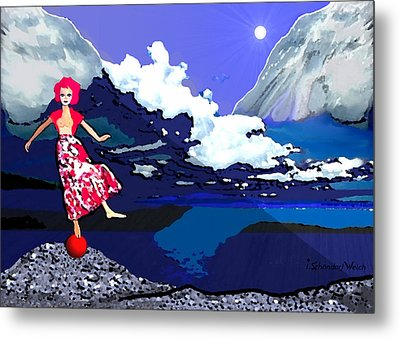 1089 - Dance Of Life ... Metal Print by Irmgard Schoendorf Welch