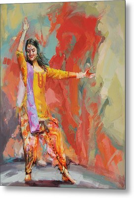 11 Pakistan Folk Punjab Metal Print by Maryam Mughal