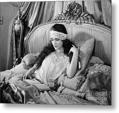 Silent Film Still: Woman Metal Print by Granger