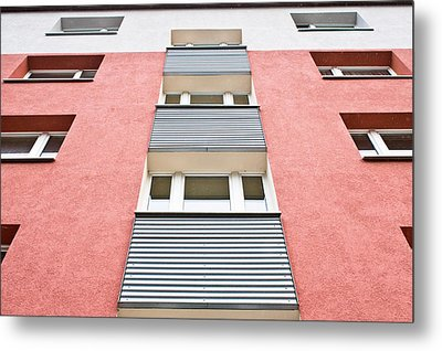 Apartment Building Metal Print by Tom Gowanlock