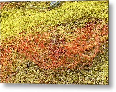 Fishing Nets Metal Print by George Atsametakis