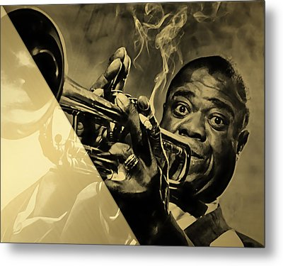 Louis Armstrong Collection Metal Print by Marvin Blaine