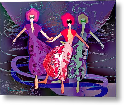 1227 - Dance Of Life Metal Print by Irmgard Schoendorf Welch