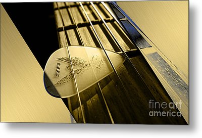 Acoustic Guitar Collection Metal Print by Marvin Blaine