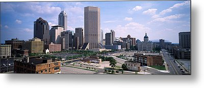High Angle View Of A City Metal Print by Panoramic Images