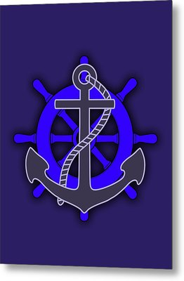 Nautical Collection Metal Print by Marvin Blaine