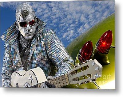 Silver Elvis Metal Print by Oleksiy Maksymenko