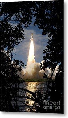Space Shuttle Atlantis Lifts Metal Print by Stocktrek Images