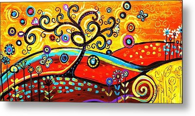 Abstract Painting  Metal Print by Jolina Anthony