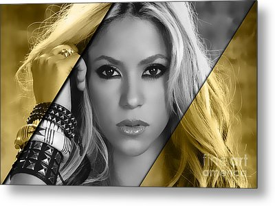 Shakira Collection Metal Print by Marvin Blaine
