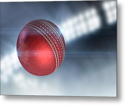 Ball Flying Through The Air Metal Print by Allan Swart
