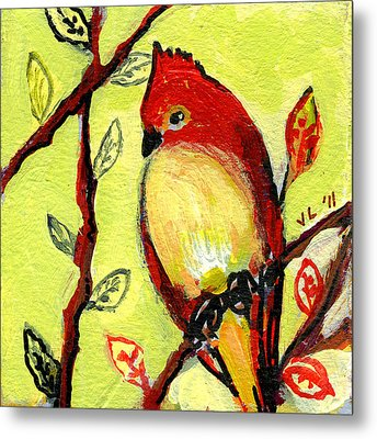 16 Birds No 3 Metal Print by Jennifer Lommers