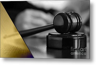Law Office Collection Metal Print by Marvin Blaine