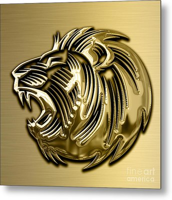 Lion Collection Metal Print by Marvin Blaine