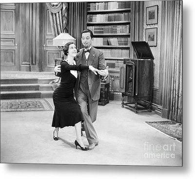 Silent Film Still: Dancing Metal Print by Granger