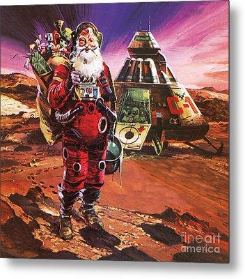 Christmas Card Metal Print by English School