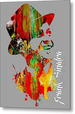 Frank Sinatra Collection Metal Print by Marvin Blaine
