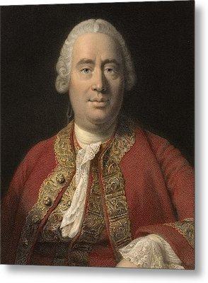 1766 David Hume Philosopher Of Science Metal Print by Paul D Stewart