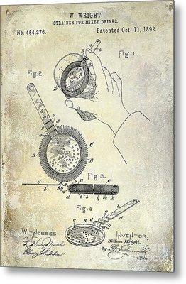 1892 Cocktail Mixer Metal Print by Jon Neidert