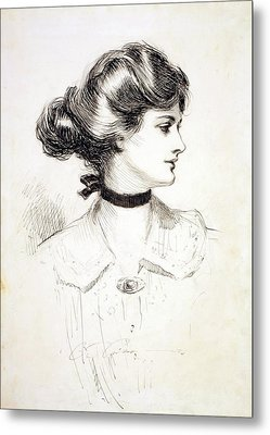 1909 Drawing By Charles Dana Gibson Metal Print by Everett