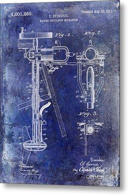 1911 Outboard Boat Motor Patent Metal Print by Jon Neidert