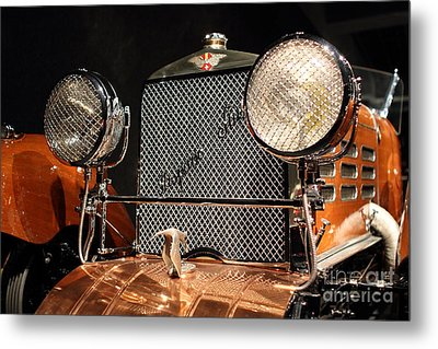1924 Hispano Suiza Dubonnet Tulipwood . Grille Metal Print by Wingsdomain Art and Photography