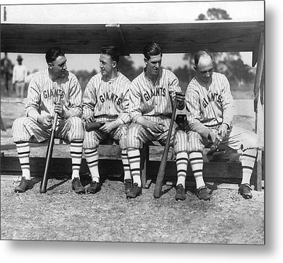 1924 Ny Giants Baseball Team Metal Print by Underwood Archives