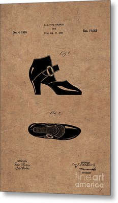 1928 Mary Jane Shoes Patent 1 Metal Print by Nishanth Gopinathan