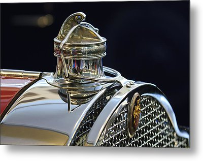 1929 Packard 8 Hood Ornament 3 Metal Print by Jill Reger