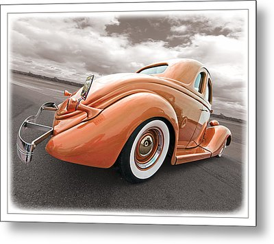 1935 Ford Coupe In Bronze Metal Print by Gill Billington