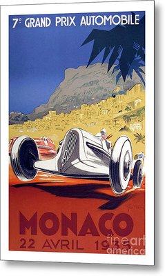 1935 Monaco Grand Prix Metal Print by Jon Neidert