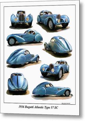 1936 Bugatti Atlantic Type 57 Sc Metal Print by RG McMahon