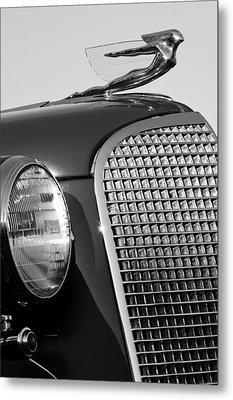 1937 Cadillac V8 Hood Ornament 3 Metal Print by Jill Reger