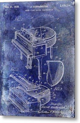 1939 Piano Patent Metal Print by Jon Neidert