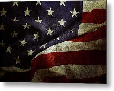 American Flag Metal Print by Les Cunliffe