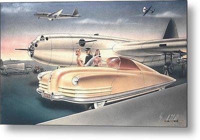 1941 Chrysler Styling Concept Rendering Gil Spear Metal Print by ArtFindsUSA