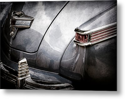 1942 Lincoln Zephyr Coupe Tail Light Emblem -1516ac Metal Print by Jill Reger