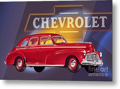 1946 Chevrolet Fleetmaster Sport Sedan Metal Print by GabeZ Art