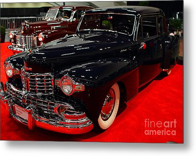 1948 Lincoln Continental Coupe . Deep Blue . 7d9256 Metal Print by Wingsdomain Art and Photography